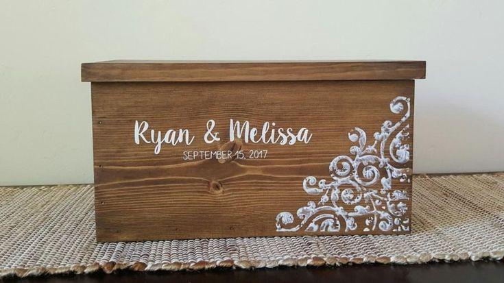 Card Box for Wedding, Rustic Card Box, Wedding Card Box, Rustic Wedding Card Box, Wedding Card Holder, Card Box with Lock