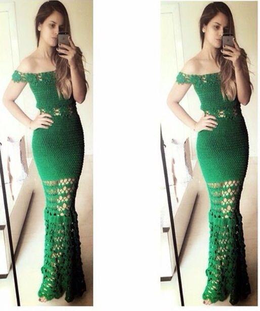 Vestido crochet dress
