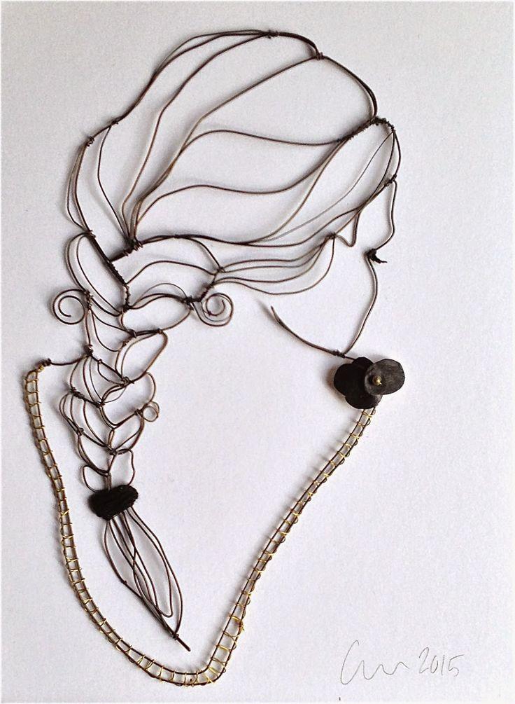 Fine Line Drawing Artists : Meilleures images à propos de fil fer et métal sur