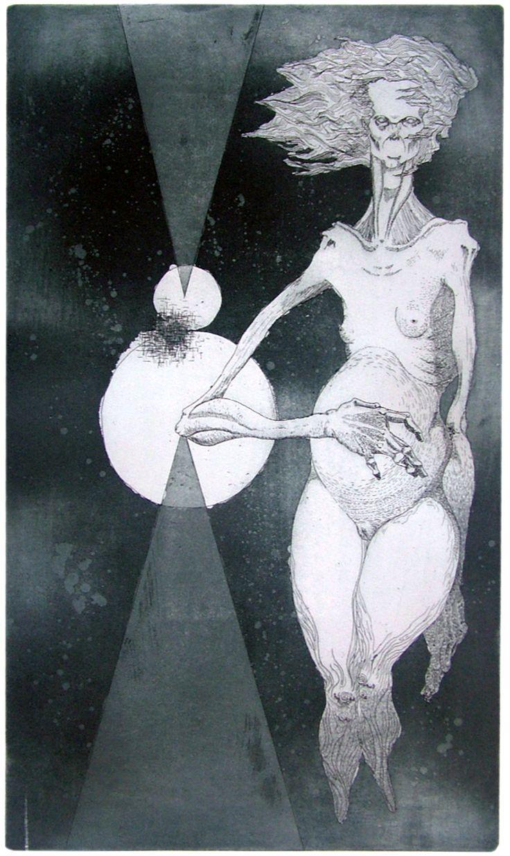 Seppo Alanissi - Tasapaino / Balance, 2013, etching & aquatint