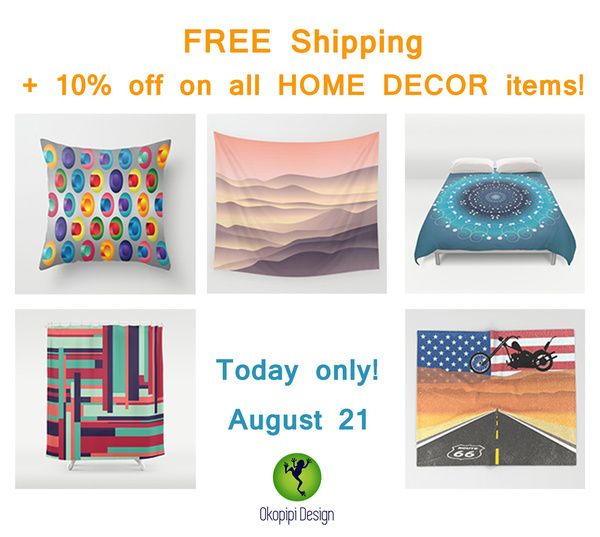 PROMO- 10% off + FREE Shipping on all Home Decor items!
