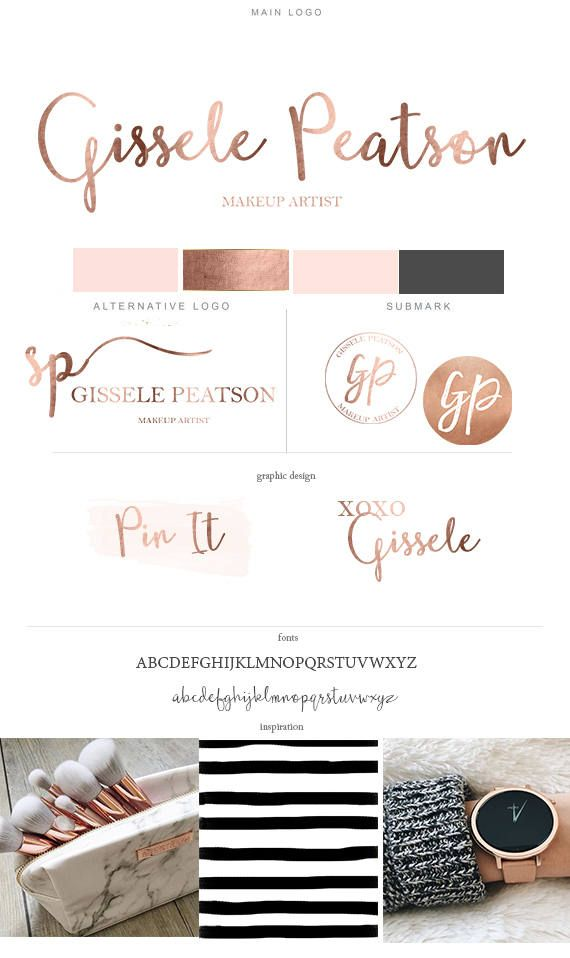 Photography Branding kit Rose gold Branding Package Female