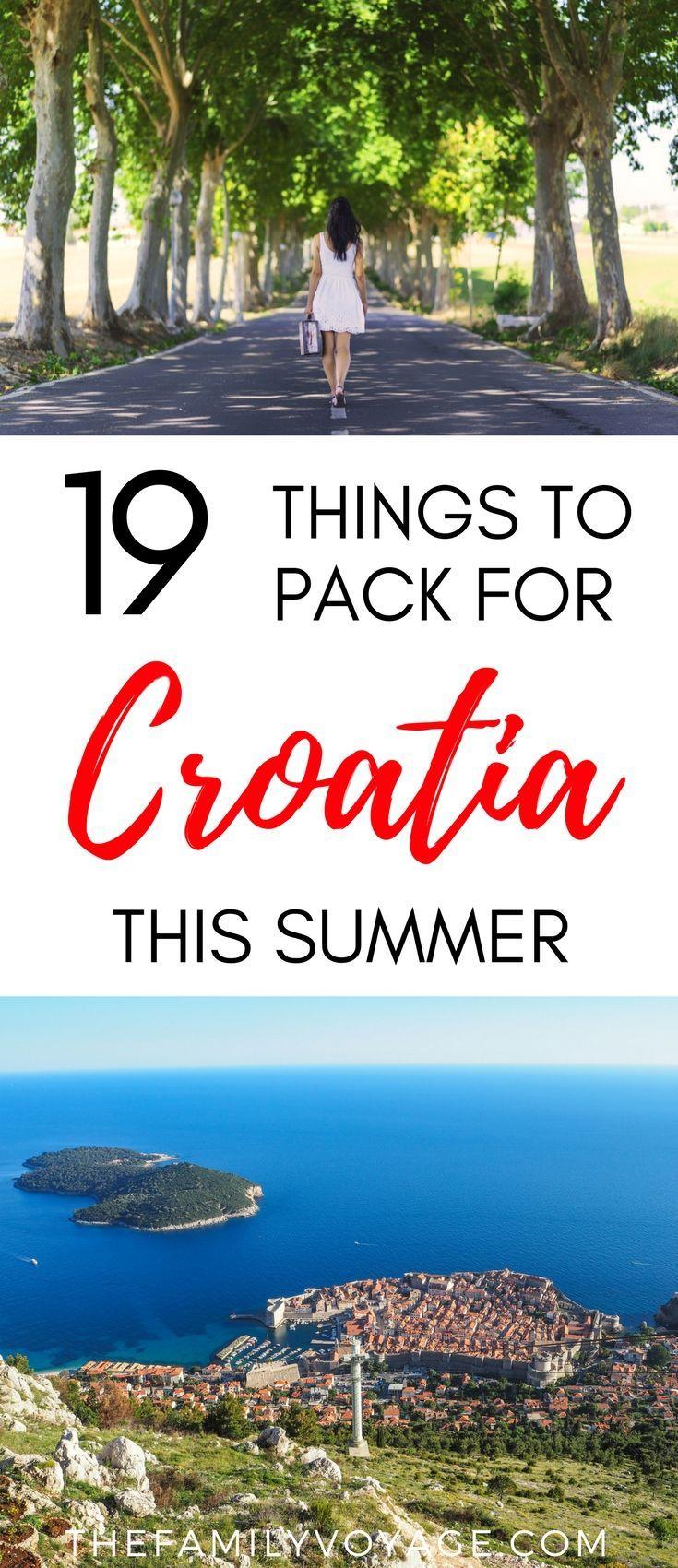 Summer Travel Capsule Wardrobe What To Pack For Croatia In June Croatie Destinations Et Vacances
