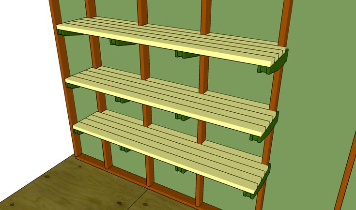 Garden Shed Plans - How To Build A Garden Shed: Building shed storage shelves