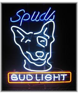 Bud Light Spuds MacKenzie neon sign Displays Spuds #1: 67f0872cf5994fad0fc f4fb75ca bud light neon sign neon signs