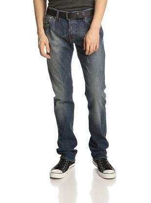 GF Ferre Men's Low Rise Tapered Leg Jean