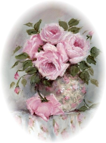 17 best images about romantic roses artists on pinterest - Cuadros shabby chic ...
