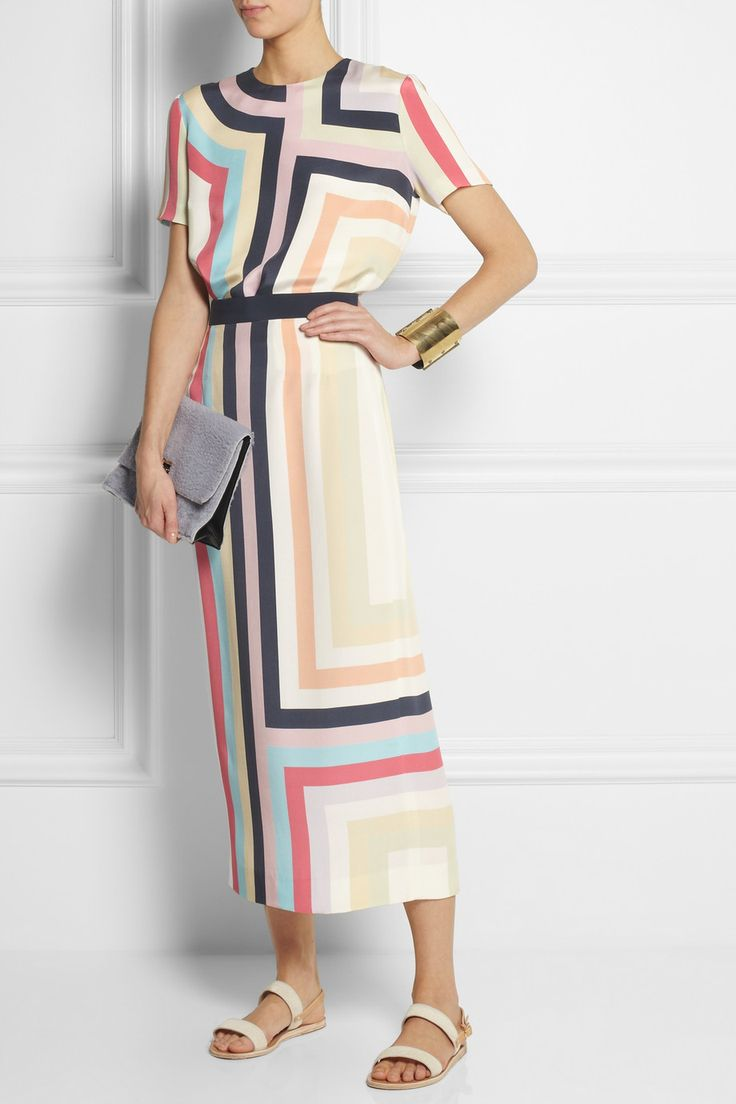 Mother of Pearl + Jim Lambie striped silk top NET-A-PORTER.COM