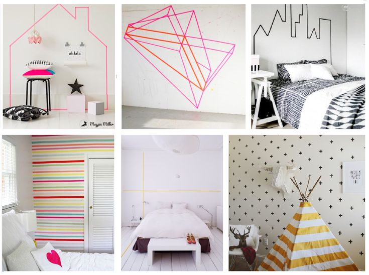 Rental apartment decor ideas - Washi Tape City Outline in ...
