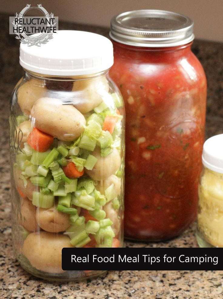 Tips for camping with real food! -- I also like this idea for meal planning throughout the week. What a great way to put together meals! -- Original link lead nowhere. I selected another link that gave similar ideas. ******* For my own recipes, go to rachelwalder.com