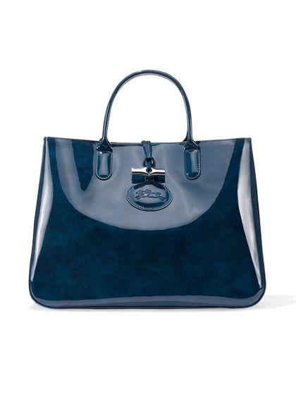 Thursday, August 1, 12 PM: Longchamp patent-leather bag. For details on how to enter, visit allure.com/go/calendar #FreeStuff
