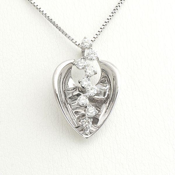 K18ホワイトゴールドダイヤペンダント ダイヤ:0.40ct