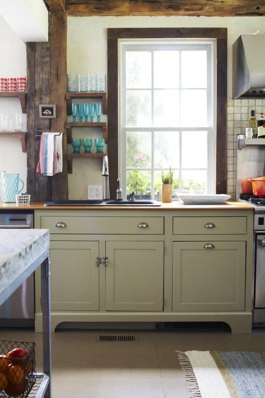 I spy greige cabinets for Better homes and gardens kitchen cabinet ideas