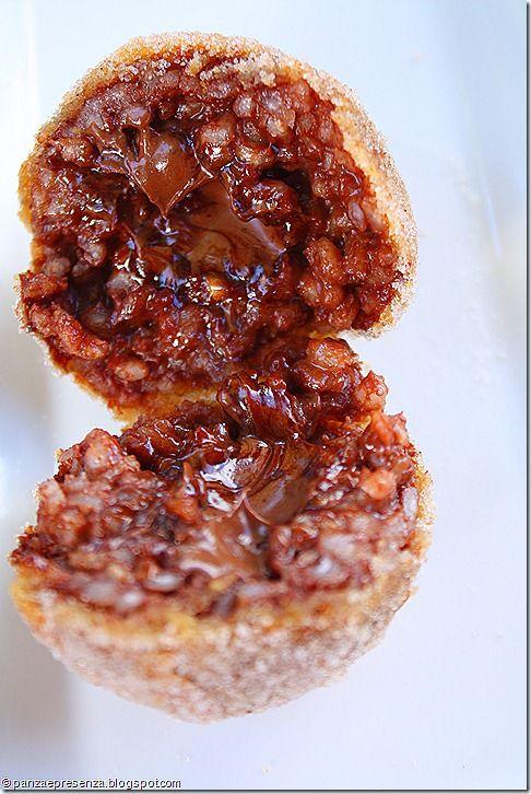 Arancine dolci alla nutella