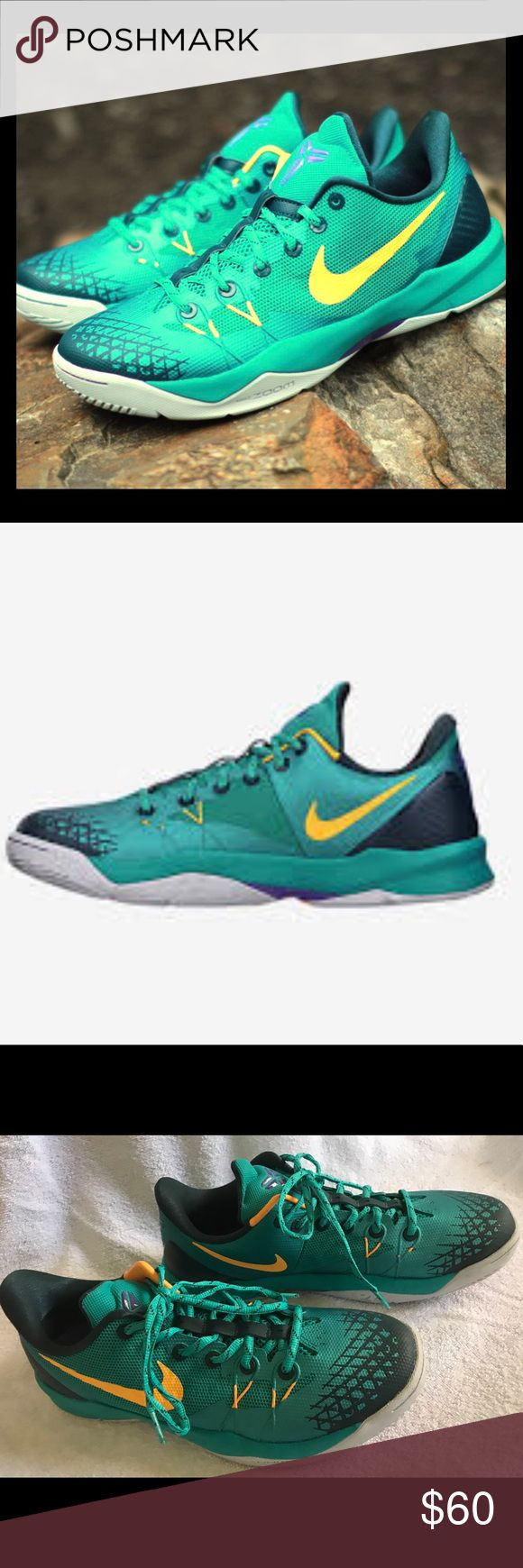 Nike Zoom Venomenon Basketball Shoe Xtra durable for outdoor game. The signature shoe of all-time basketball great Kobe Bryant. My daughter used it once for indoor volleyball and they ended up being to big, so her loss is your gain! Nike Shoes Athletic Shoes