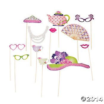 Tea Party Stick Props for Fancy Nancy photo booth