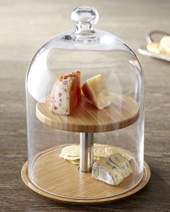 OMG NEED this Two Tier Glass Cheese Dome at Neiman Marcus.