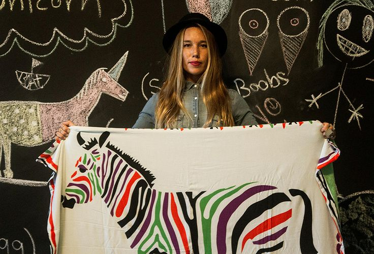 The Rad Rug Zebra www.kykullo.com/theradrug #beachtowel