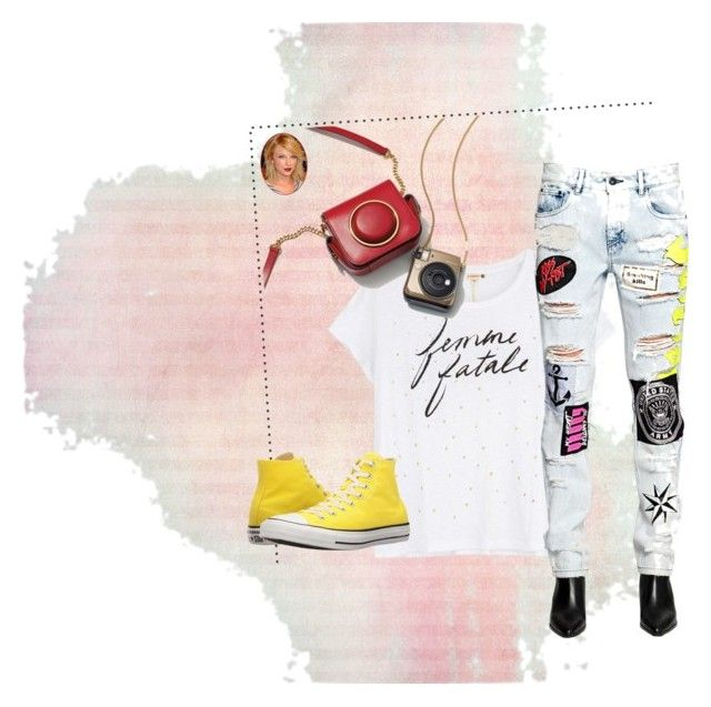 """Femme Fatale"" by lula-kruta ❤ liked on Polyvore featuring Sundry, Filles à papa and Converse"