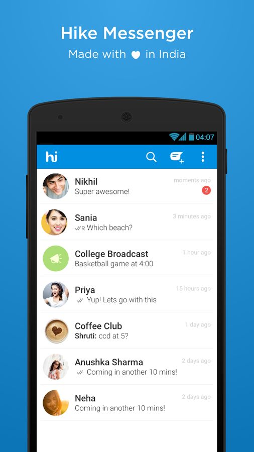 Download Free Android Games Apps Hike Messenger Latest Version APK Files For