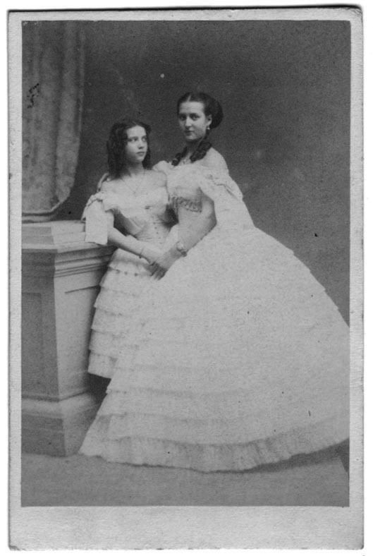 Sisters Dagmar (future Tsarina Marie of Russia) and Alexandra (Future Queen of England). The mothers of Tsar Nicholas II of Russia and King George V of England, respectively..