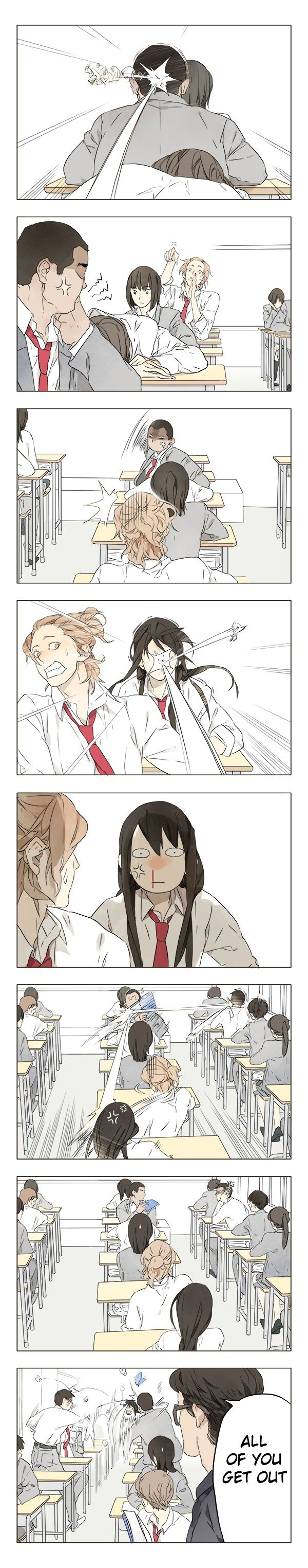 Tamen De Gushi. I want this to happen in my class lol. Love the art btw