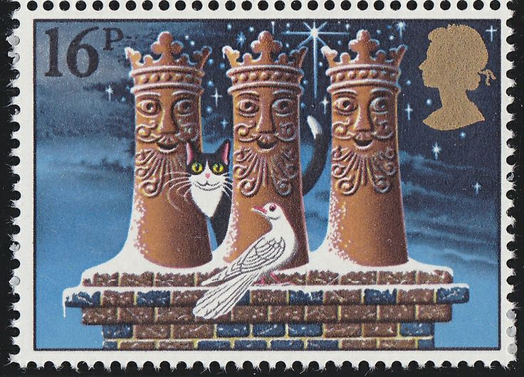 Royal Mail Christmas 1983, The three kings in the form of chimneys