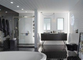 Soho Black Bathroom | Kohler Supplied at PDI. www.relyonpdi.com