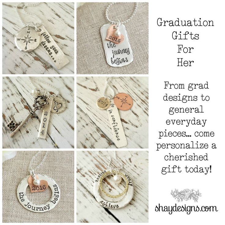 Personalized Graduation Jewelry!  Give a gift she will cherish for years in celebration of her accomplishment!