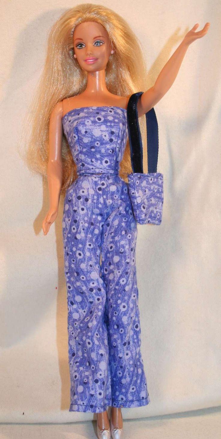 Modelli dei vestiti fai da te per Barbie - Vestito e borsa coordinati