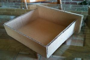 Fabriquer un tiroir en carton