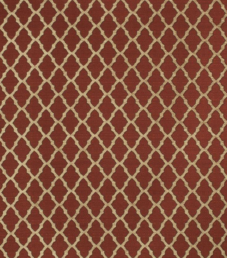 Eaton Square Print Fabric - Quaker/Chili