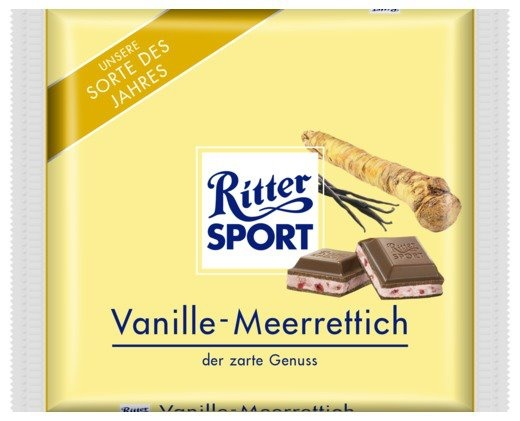 RITTER SPORT Fake Schokolade Vanille-Meerettich | RITTER ...
