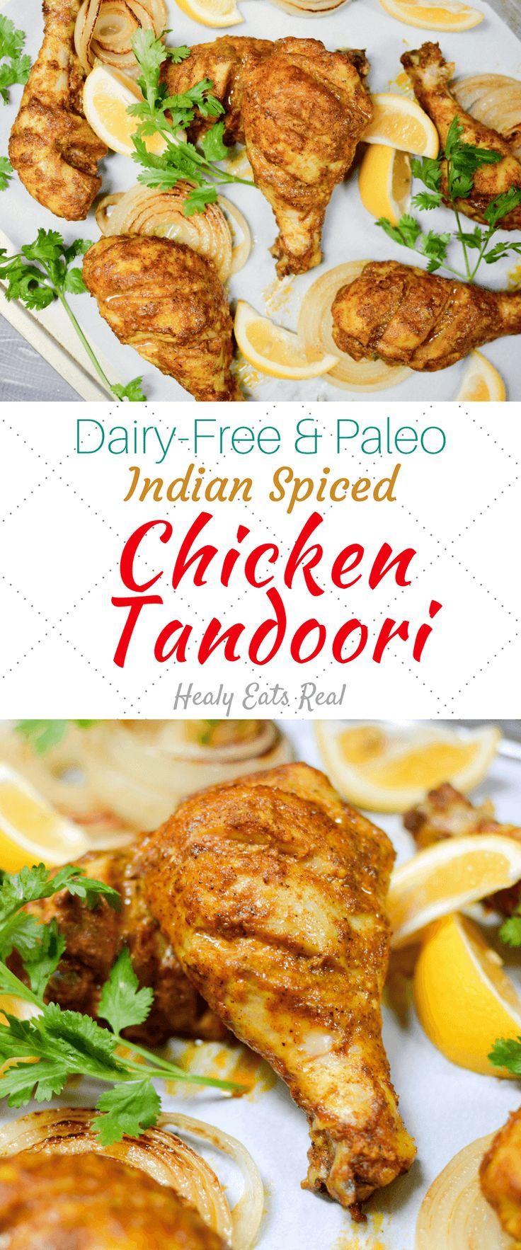 Chicken Tandoori Recipe (Dairy Free & Paleo) - great healthy lunch or dinner recipe!