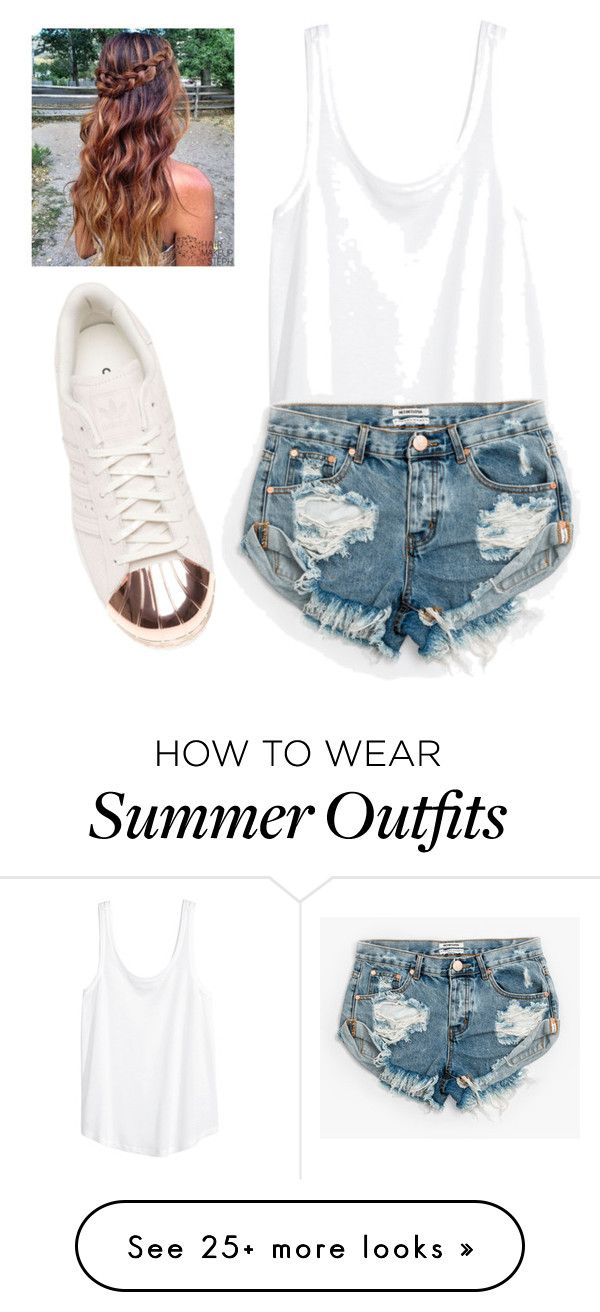 """""""Casual Summer Day Outfit"""" by saigonpalace on Polyvore featuring H&M, One Teaspoon and adidas"""