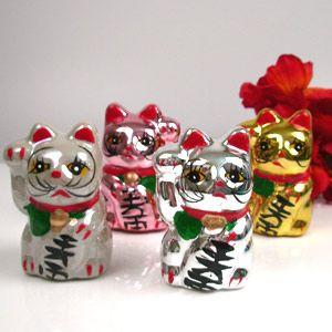 Wedding Favors & Party Supplies - Favors and Flowers :: Wedding Favor Themes :: Asian Theme Wedding Favors :: Lucky Cat Favor (Maneki Neko) - 6 pcs