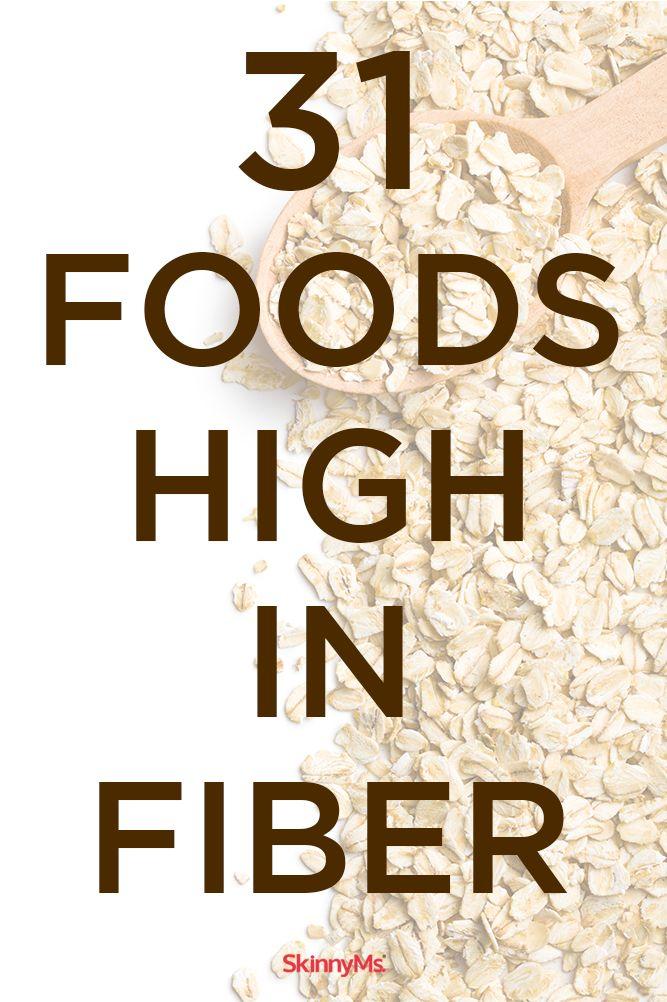 31 High-Fiber Foods that are great for weight loss! #fiber #weightloss