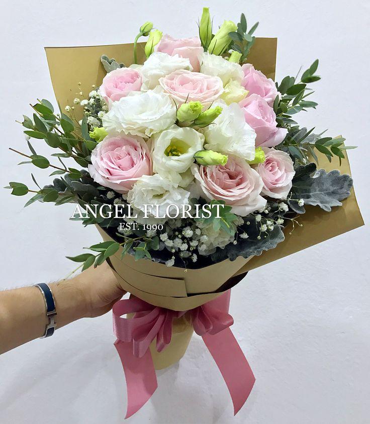 #粉色玫瑰花 #花束 #鲜花 #手花 #洋桔梗 #满天星 #叶子 #欧式 #韩式 #设计 #预订 #大束 #大体 #迷你型 #精致 #混乱型 #HandBouquet #Fresh #Flower #Eustoma #PinkRose #JohorBahru #Johor #JohorJaya #Florist #小天使花屋 #AngelFloristGiftCentre #新山花店 #花店 #新山 #柔佛 #Wechat #WhatsApp 010-6608200