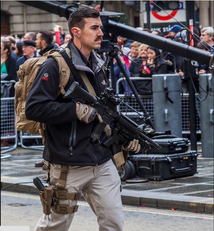 Royal Military Police, Close Protection Unit at the Lord's Mayor parade. November 2014.