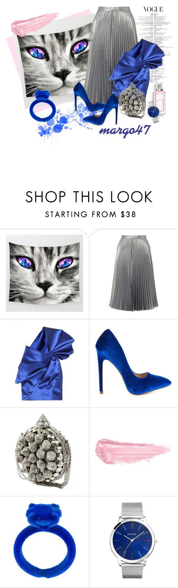 """kocie oczy"" by margo47 ❤ liked on Polyvore featuring Miss Selfridge, Yves Saint Laurent, Liliana, By Terry, Christian Dior, MM6 Maison Margiela and Paul Smith"
