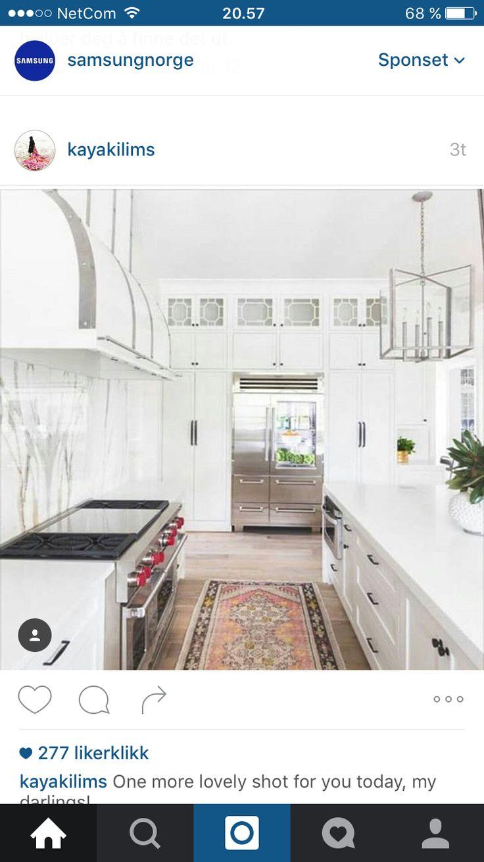 Kjøkken og teppe