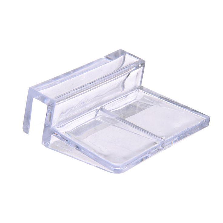 1Pcs 6/8/10/12mm Acrylic Aquarium Fish Tank Glass Fixed Cover Clip Clamp Bracket Holder Shelf Lamp Filter Barrel Rack Support