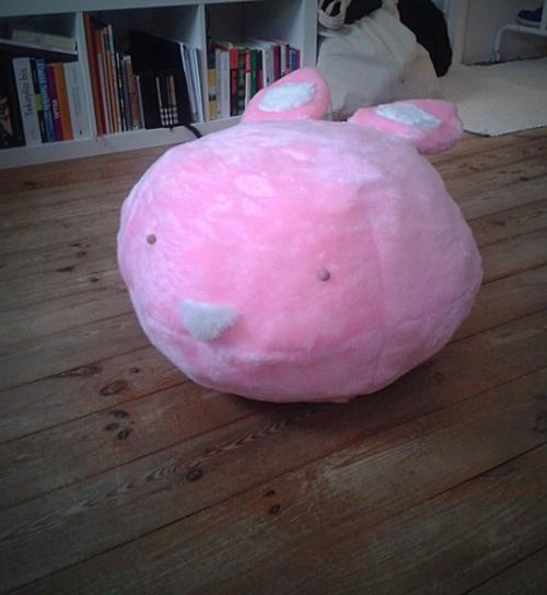 Pink rabbit  - a pouffe/ottoman by Magda Bielecka, via Behance