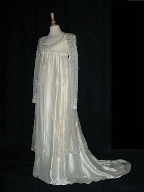 Wedding dress worn by frances o 39 connor as fanny price in for Frugal fannies wedding dresses