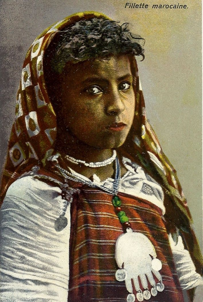Africa Berber Girl Morocco Vintage Photo Late 1800s People Of The World Pinterest