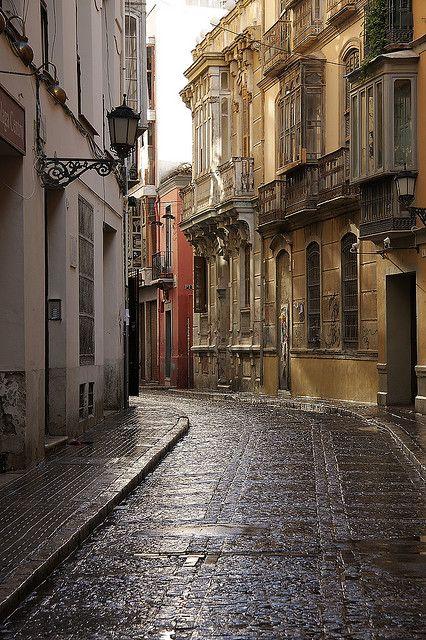 bluepueblo:  Ancient Street, Malaga, Spain photo via alittleslice