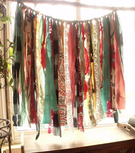 Bohème Rag Rideau  cantonnière Hippie par BetterhomeLiving sur Etsy