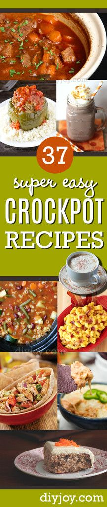 Easy Crock Pot Recipes You Have To Try Today | Best Easy Slow Cooker Recipe Ideas for the Crockpot Include beef stew, chili, chicken dinner dishes, soup and more | http://diyjoy.com/crock-pot-recipes-slow-cooker-meals/
