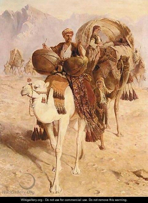 The head of the caravan, Mount Sinai, 1882 | Joseph-Austin Benwell (1816-1886)