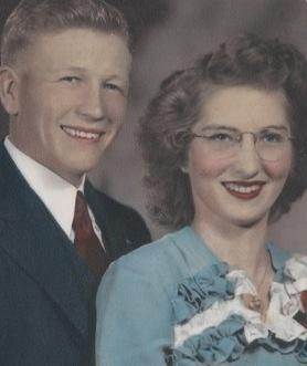Franklin A. Gillim and Martha V. Hale Gillim on their wedding day 1944